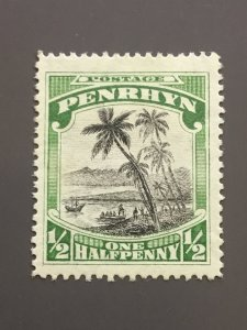 Penrhyn Is. 33 F-VF MH. Watermarked. Scott $ 6.50