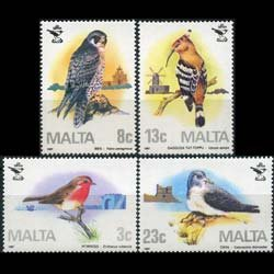 MALTA 1987 - Scott# 690-3 Birds Set of 4 NH