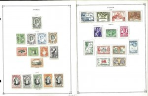 Tonga 1935-1993 all Mint NH & H in Mounts on Scott international Pages