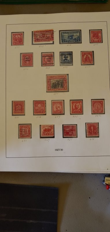 US Scott 629-690 MNH and Used as shown