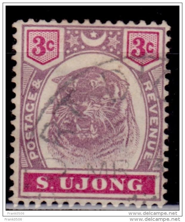 Malaya, Sungei Ujong, 1895, Tiger, 3c, Scott#36, used