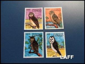 Congo - Owls  - Set MNH