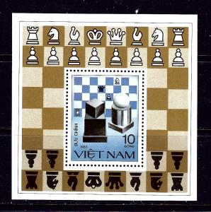 Vietnam 1297 MNH 1983 Chess souvenir sheet