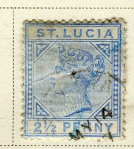 ST.LUCIA; Early 1883 QV issue fine used 2.5d. value