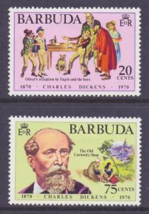 Antigua Barbuda Scott 84/85 - SG83/84, 1970 Charles Dickens Set MH*