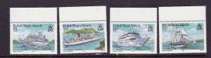 Virgin Is.-Sc#524-7-unused  NH set-Cruise Ships-id2-1986-
