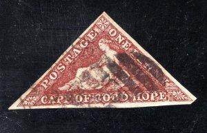 Cape of Good Hope Scott 12,  VF,  Used,  Wmk. 15,  CV $350.00   .... 1190009