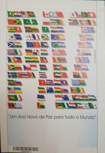 U) 2018, BRAZIL,  AMERICA CHRISTMAS FLAG IN THE FREE MARKET BRAZIL, POSTAL STATI