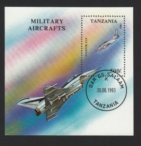 Military Aircrafts - Souvenir Sheet, Tanzania