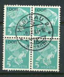 Switzerland #S13 Block of 4 Used