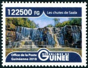 HERRICKSTAMP NEW ISSUES GUINEA Saala Waterfalls High Face Value