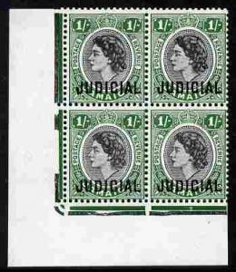 Jamaica 1953 QEII Postage & Revenue 1s black & gr...
