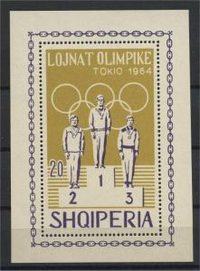 ALBANIA  SUMMER OLYMPIC GAMES IN TOKYO 1964  NH BLOC