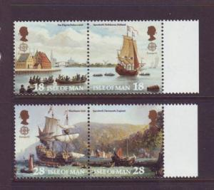 Isle of Man  Sc505-8 1992 Europa Pilgrims stamps