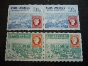 Stamps - Cuba - Scott#539-542 - Mint Hinged Set of 4 Stamps in Pairs