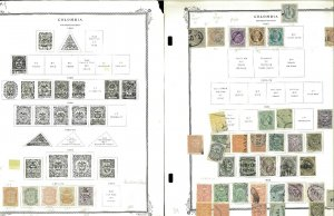 Colombia 1871-1967 Mostlu Used (a few Mint) JHinged on Scott Specialty Pages