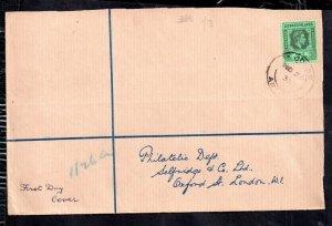Leeward Islands 1938 KGVI 1/- FDC to Selfridges UK WS18482