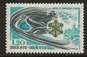 Andorra (French)  (1976)  - Scott # 244,   MNH