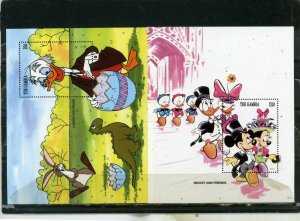 GAMBIA 1994 WALT DISNEY EASTER SET OF 2 S/S MNH