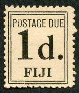 Fiji SGD5b 1917 1d Black (narrow Setting) Post Due Mint (no gum as issued)