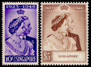 SINGAPORE SG31-32, 1948 RSW COMPLETE SET, LH MINT. Cat £110.