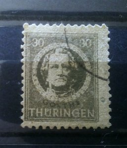 Germany Thuringen 99AX p2 paper used