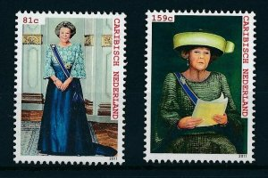 [CA016] Caribbean Netherlands 2011 Royal Visit Queen Beatrix MNH