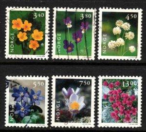 Norway #1182-87 ~ Cplt Set of 6 ~ Used, HMR