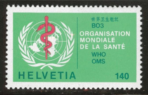 Switzerland Scott 5o40 MNH**  WHO