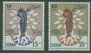 British Sudan SC# 128-9 World Refugee Year set MH