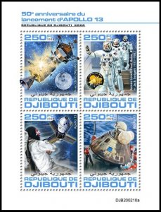 DJIBOUTI 2020 SPACE APOLLO 13 ESPACE RAUMFAHRT SPAZIO [#200210]