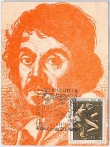 51474  - ITALY -  POSTAL HISTORY: MAXIMUM CARD - 1973 ART: Caravaggio