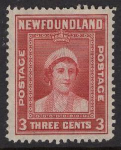 Newfoundland  #246  used   1938   3c  Queen Elizabeth
