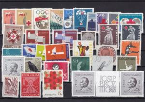 yugoslavia mixed mm and mnh stamps ref 6996