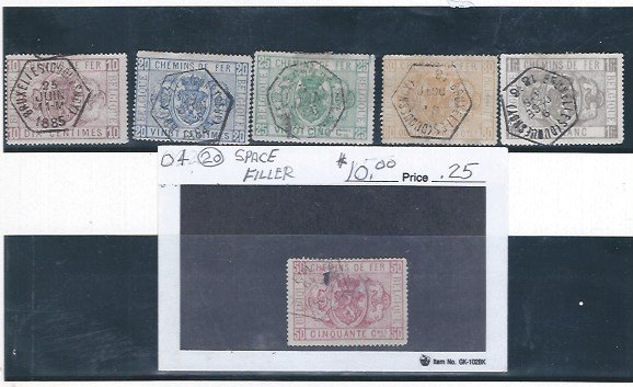 BELGIUM  USED GROUP O3-O6 SCV $116.75  AT 20% CAT VALUE!  ! !