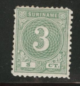 Suriname Scott 20 Mint no gum 1890 stamp as issued