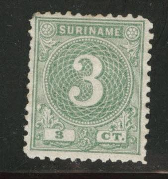 Suriname Scott 20 Mint no gum 1890 stamp as issued