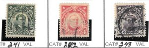 # 241 - 242 - 243 PHILIPPPINES USED STAMPS