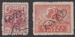 Poland – two LEVANT overprints