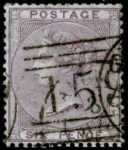 SG70, 6d pale lilac, FINE USED. Cat £125.