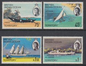 British Indian Ocean Territory 35-38 Ships MNH VF