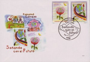 PANAMA DREAMING of the FUTURE  Sc 884-885 FDC 2001