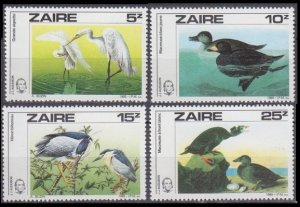 1985 Zaire 904-907 Birds 8,50 €