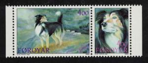 Faroe Is. Sheepdogs 2v pair SG#258-259 SC#267a