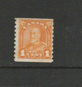 Canada 1930 Defs Coil, 1c Orange Imperf x P8.5 MM SG 304