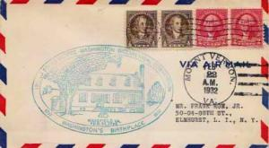 United States, Washington Bicentennial Event, Airmail, Virginia