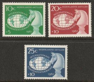 Netherlands Antilles 1962 Sc B55-7 set MNH**