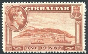 GIBRALTAR-1938-51 1d Yellow-Brown Perf 14 Sg 122 UNMOUNTED MINT V25066