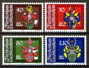 Liechtenstein 1980, Coat of arms set (I) VF MNH, Mi 743-46 cat 5€