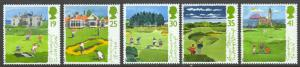 Great Britain Sc# 1567-1571 MNH 1994 19p-41p Golf Courses